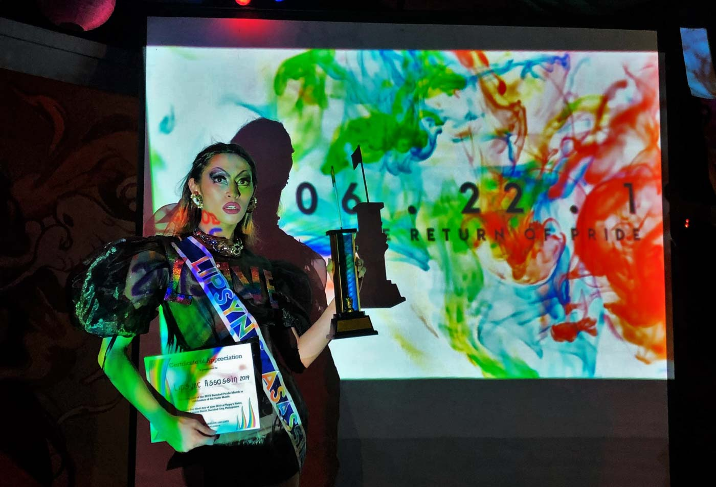 LIP SYNC ASSASSIN. Local drag queen Yudip*ta wins the lip sync contest with a performance to 'Paparazzi' by Lady Gaga. Photo by Gino Lopez