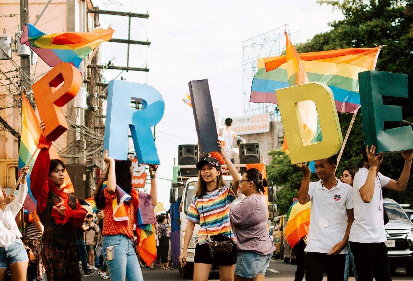 PRIDE MARCH. LGBTQ+ youth and allies unite in a Pride parade in Bacolod City on Saturday, June 22. Photo by Jorge Gamboa