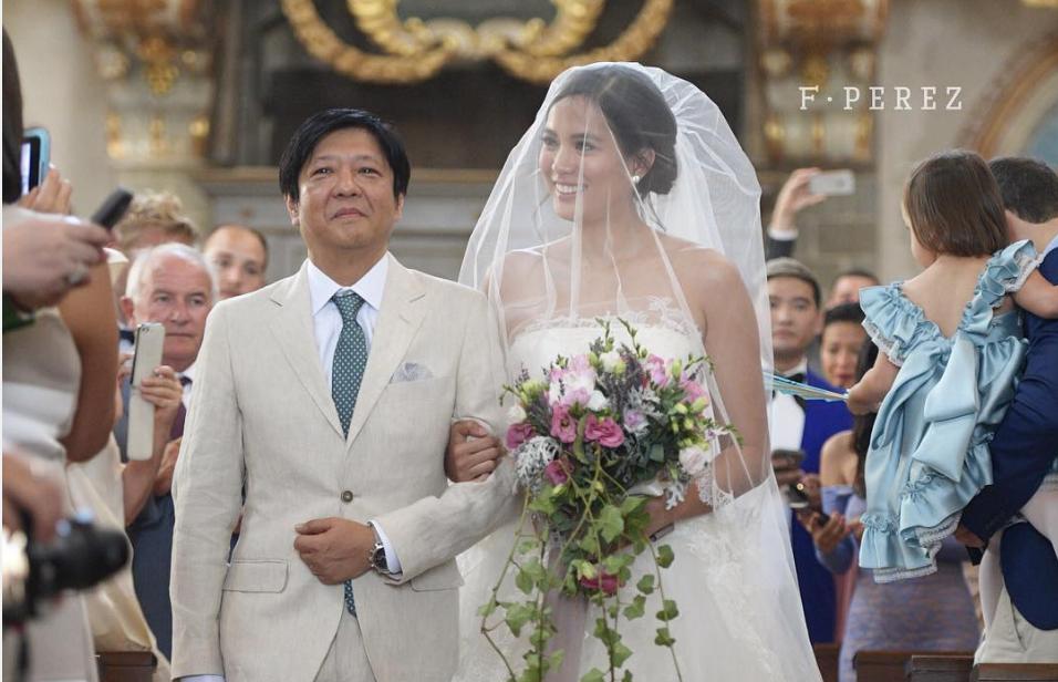 LOOK: Bongbong Marcos walks Isabelle Daza down the aisle