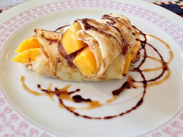 Mango with Nutella. All photos provided by Nikka Sarthou-Lainez