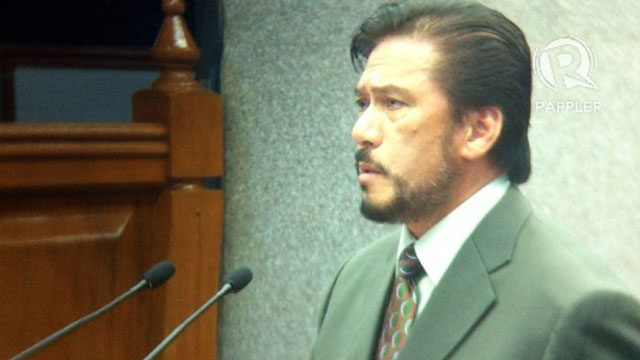NOT CRIME. Senate Majority Leader Vicente Sotto III attacks his critics, saying plagiarism is not a crime in the Philippines. Photo by Ayee Macaraig