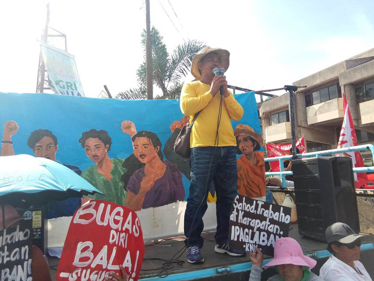 TACLOBAN CITY. Protesters hold a United People's SONA in Tacloban City on July 22. Photo courtesy of Bayan Eastern Visayas