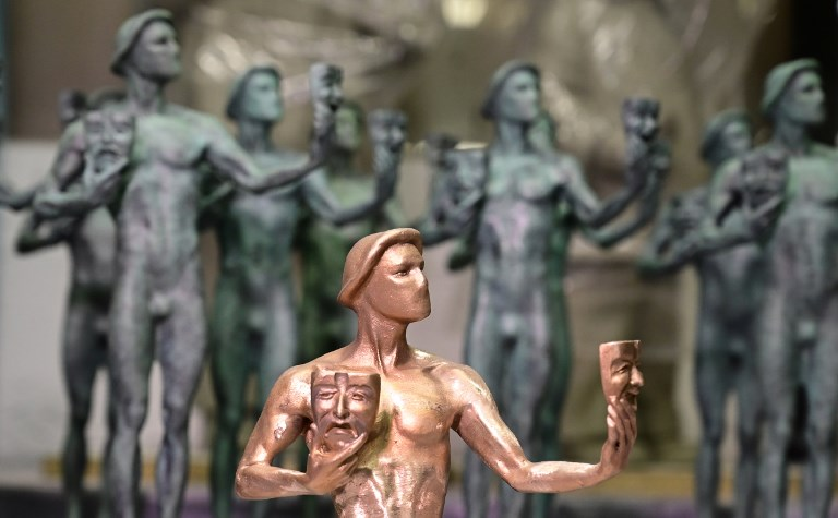 SAG 2019. Statuettes of the award given at the Screen Actors Guild Awards known as the Actor are displayed at the American Fine Arts Foundry on January 15, 2019, in Burbank, California. Photo by Frederic J. Brown / AFP
