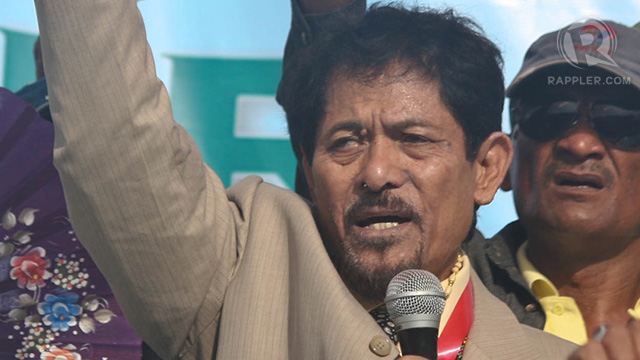 MORO LEADER. MNLF chair Nur Misuari in an October 21, 2012 meeting with supporters. Photo by Karlos Manlupig