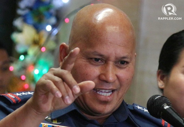 WHOOPS? PNP chief Ronald dela Rosa says the 'cash gifts' for top police officials from the Palace won't push through. File photo by Joel Liporada/Rappler