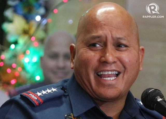 HAPPY HOLIDAYS. PNP chief Ronald dela Rosa. File photo by Joel Liporada/Rappler
