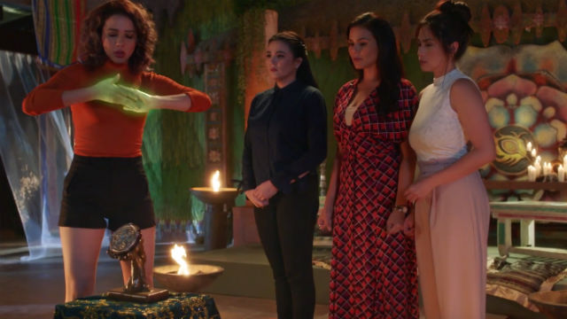 REUNITED. The original sanggres of 'Encantadia' - Karylle, Sunshine Dizon, Iza Calzado, and Diana Zubiri reunite in iflix's original movie 'Mystified.' Screenshot from YouTube/iflix Philippines
