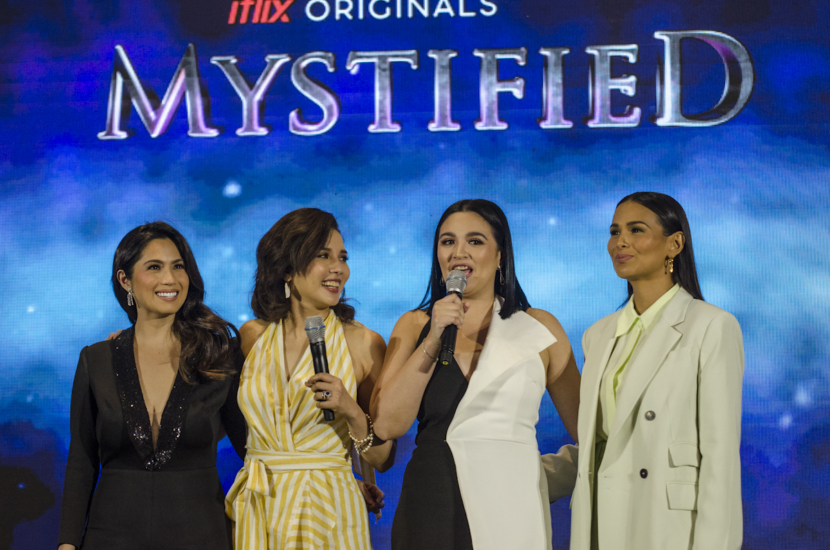 COVEN of 4. Sunshine Dizon, Karylle, Diana Zubiri, and Iza Cazaldo take on the roles of sorceresses in 'Mystified.' Photo by Rob Reyes/Rappler