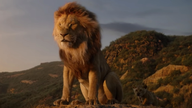 PRIDE ROCK. The new 'Lion King' trailer shows the beloved Disney classic rendered in breathtaking CGI. Screenshot from YouTube.com/DisneyMovieTrailers