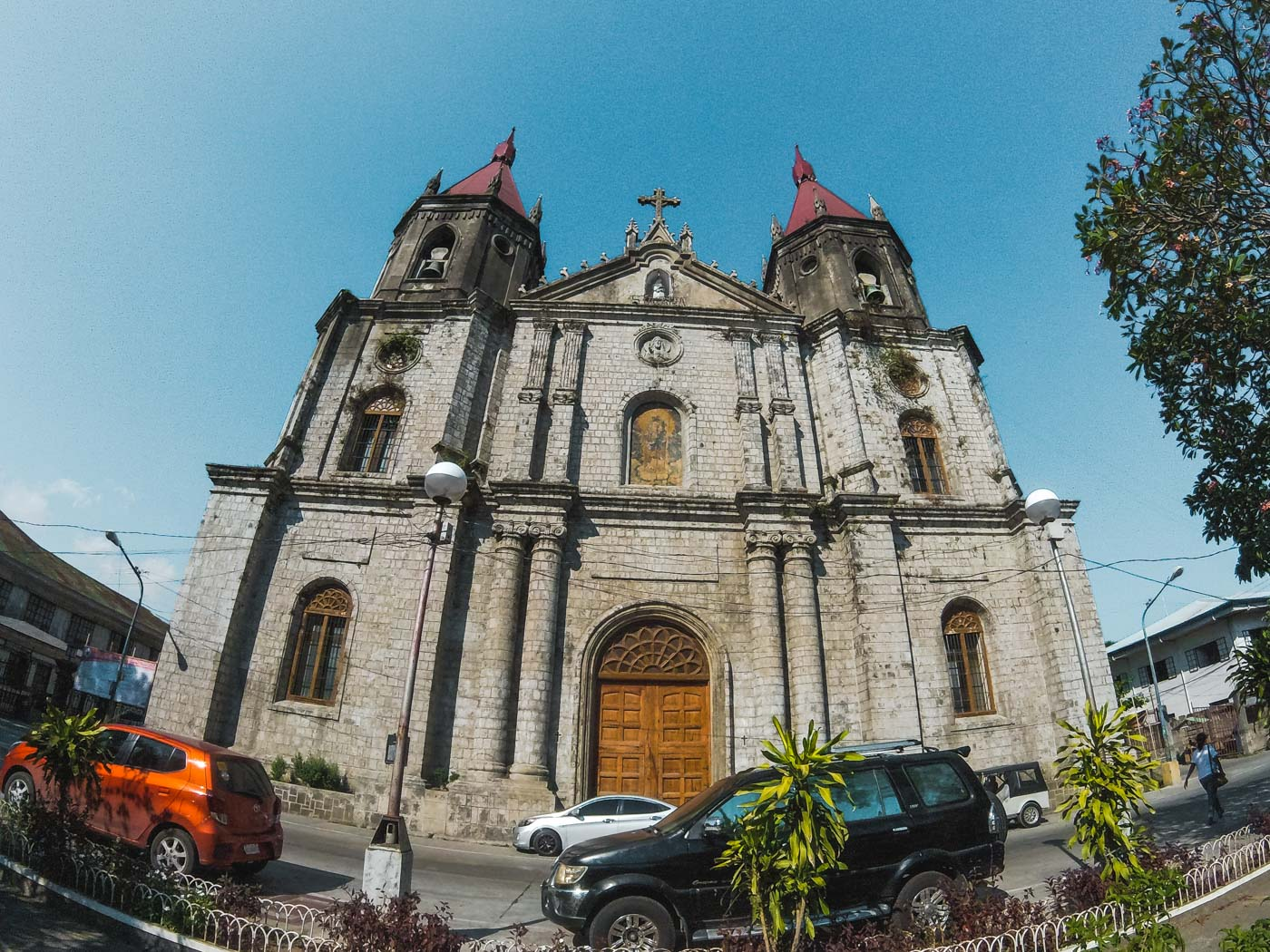 FEMINIST. This only Gothic-Renaissance church outside Manila honors its patron saint - St. Anne along with the 16 images of women saints on each pillar on the aisles of the church. Photo by Carl Don Berwin/Rappler