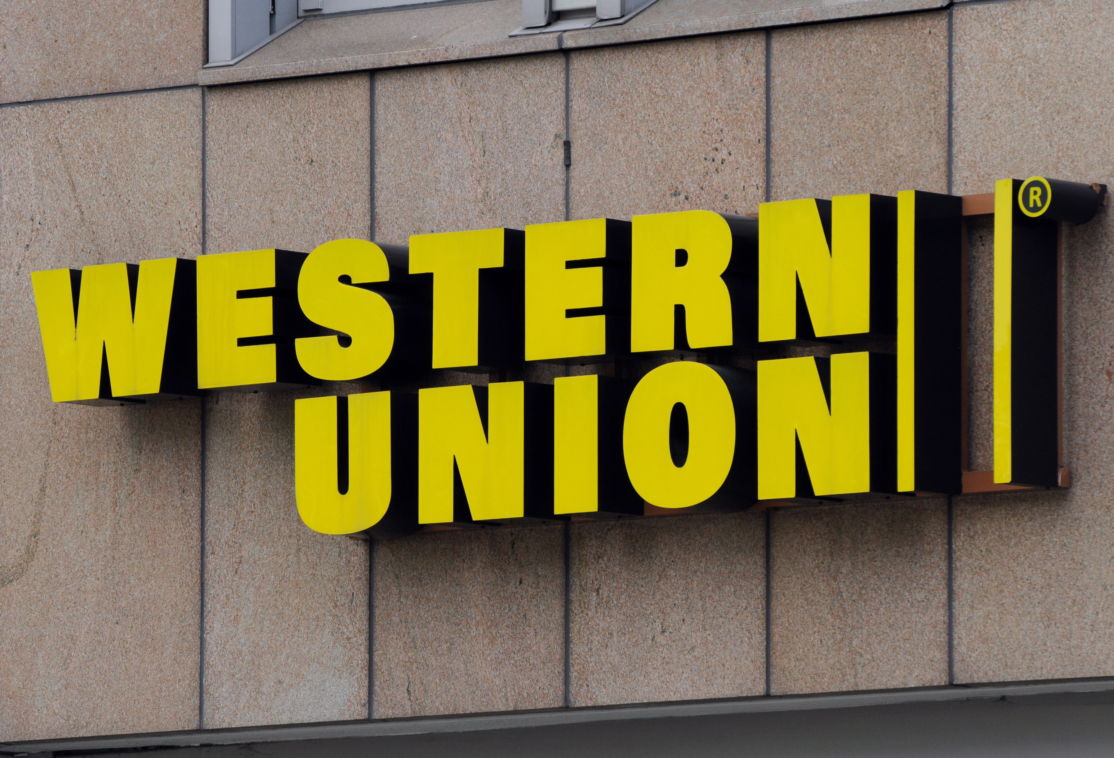 Western union - An Image Showing The Company Logo Of Western Union In Frankfurt