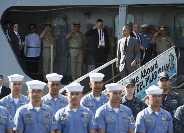 MANILA VISIT. US President Barack Obama at the South Harbor in Manila on  November 17, 2015. Photo courtesy of the 7th Civil Relations Group, AFP