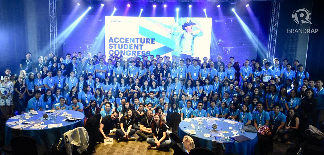 STUDENT CONGRESS. More than 150 students from top universities in Metro Manila and Ilocos gathered last month for the first Accenture Student Congress. Photo by Angie de Silva/Rappler