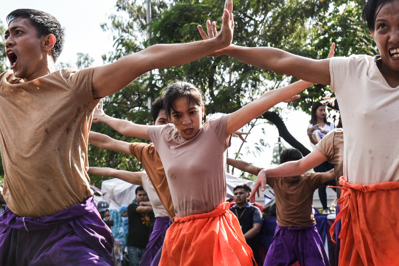 Artists perform at Liwasang Bonifacio in Manila to commemorate International Women's Day. Photo by Alecs Ongcal/Rappler
