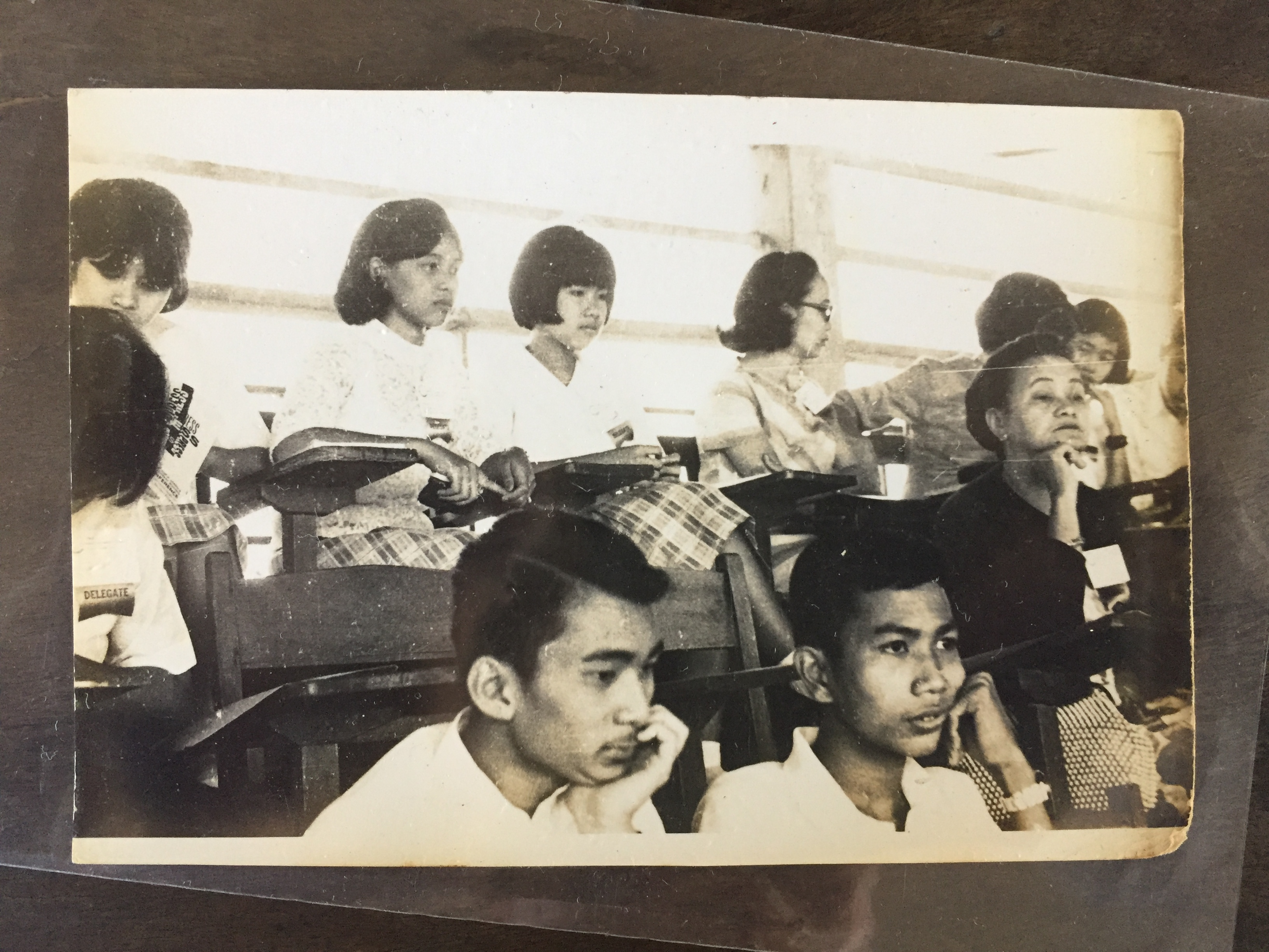 OLD TIMES. A scene taken in one of the lectures during the 1968 National Secondary Schools Press Conference in Lucena, Quezon. Photo from the collection of Florentina Franco