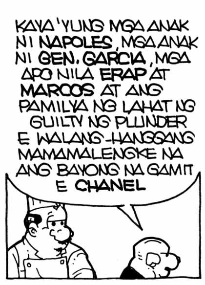 ni Gen. Garcia, mga apo nila Erap at Marcos at ang pamilya ng lahat ng