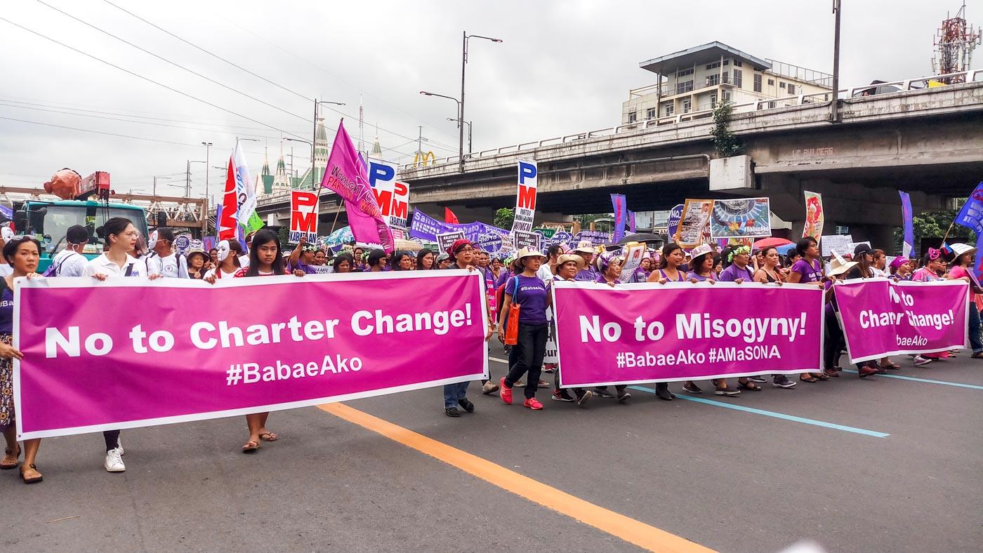 #BabaeAko SONA protest. Photo by Sheila May Advincula/Rappler
