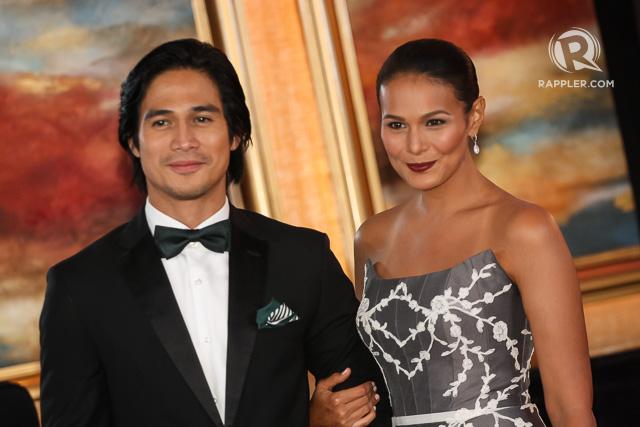 Piolo with his date, actress Iza Calzado. File photo by Manman Dejeto/Rappler