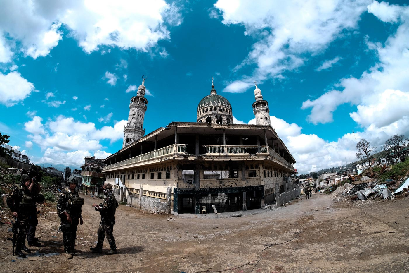 ONE YEAR AFTER. Key sites during the Marawi siege. Photo by Bobby Lagsa/Rappler