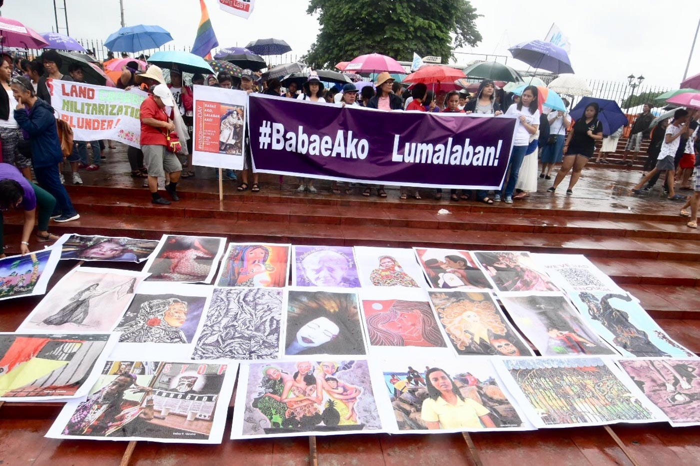 HINDIPENDENCE. The #BabaeAko march is part of the #HINDIpendence day protest activities organized by opposition groups against the Duterte administration. Photo by Angie de Silva/Rappler