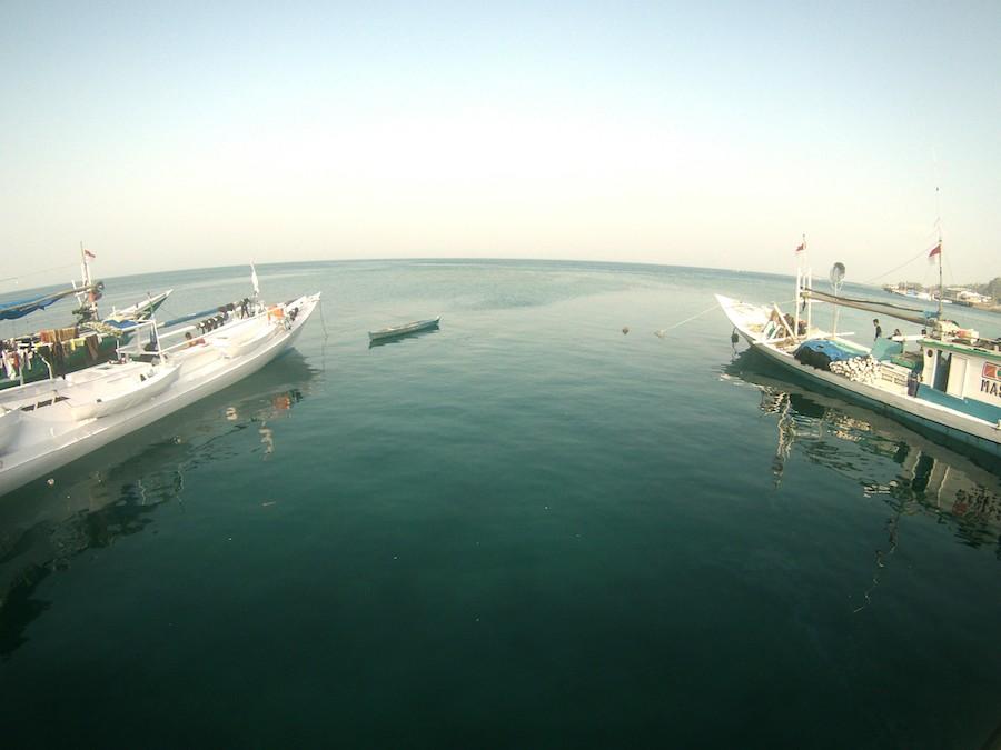 NELAYAN. Dermaga di dekat Tempat Pelelangan Ikan di Donggala.