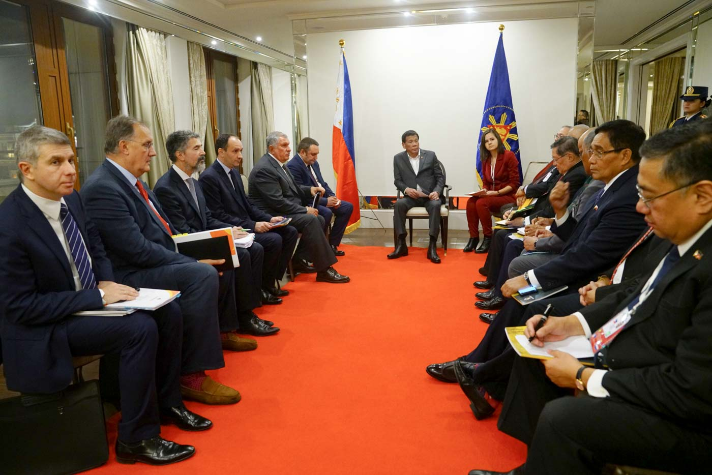 Duterte meets with CEO of Russian oil firm Rosneft