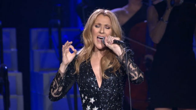 CELINE DION. Celine Dion, who canceled her shows to undergo ear surgery, will resume her performances on May 22. Screengrab from livestream.com/Celine Dion Live in Vegas