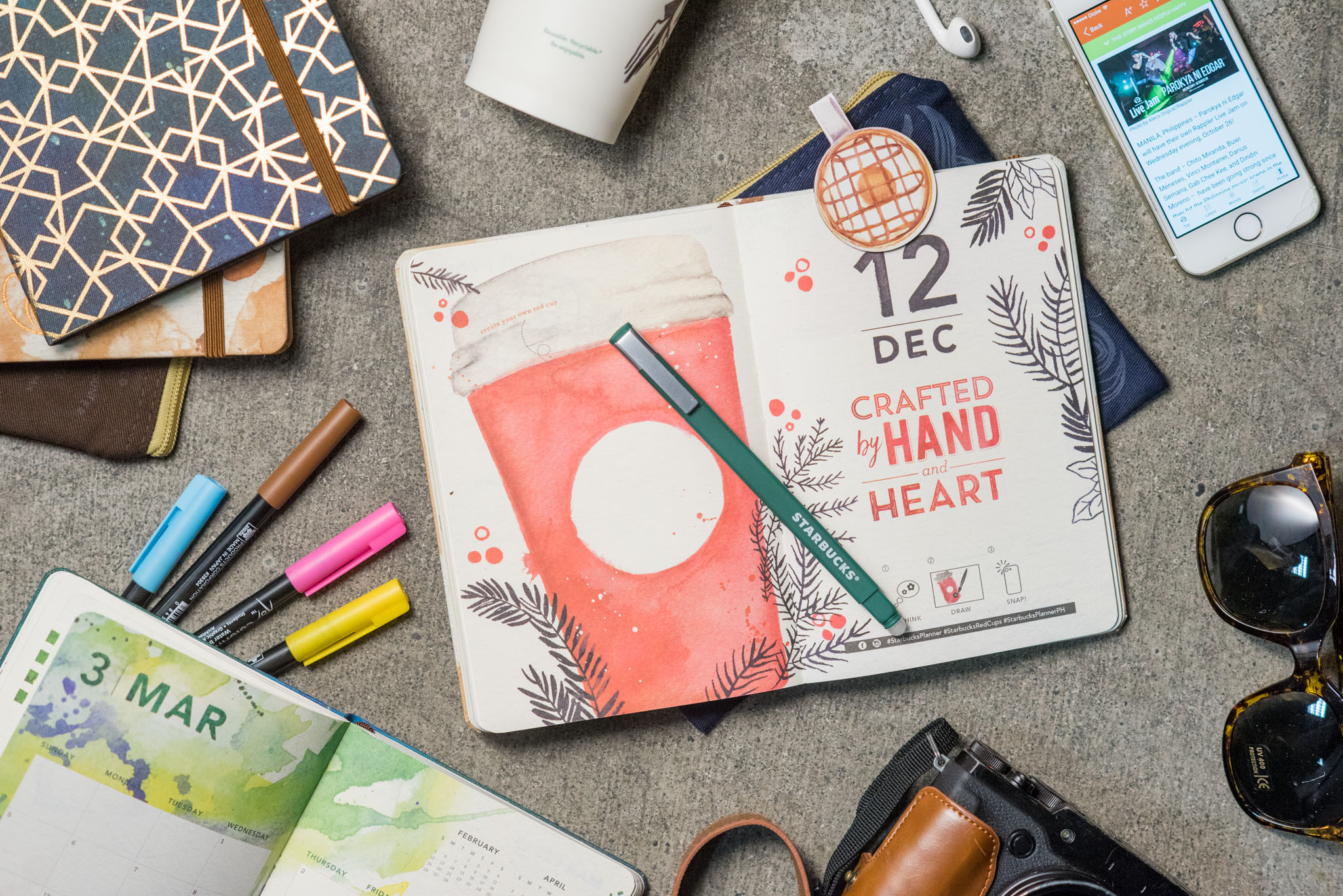Starbucks 2017 Planners Up Close Look At 2 Gorgeous Designs