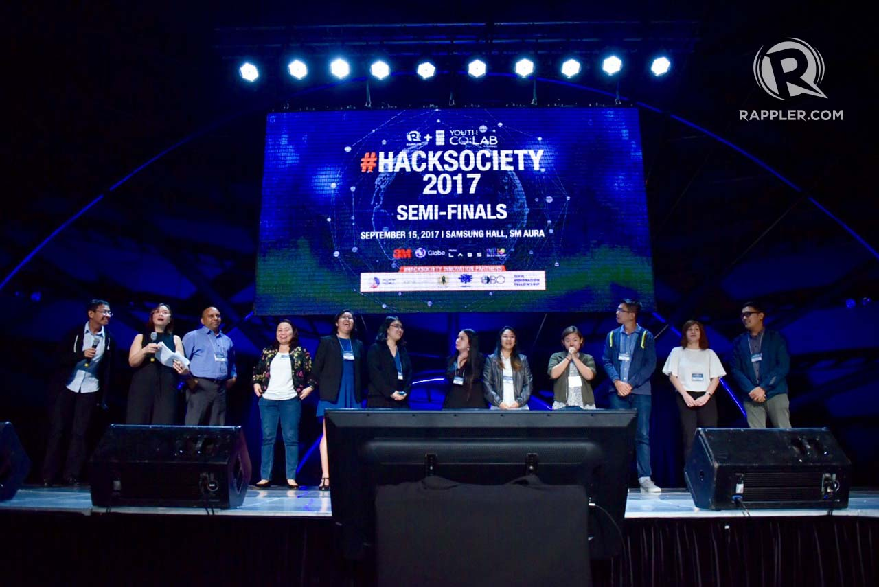 WINNERS. This year's winners of HackSociety 2017. Photo by LeAnne Jazul/Rappler