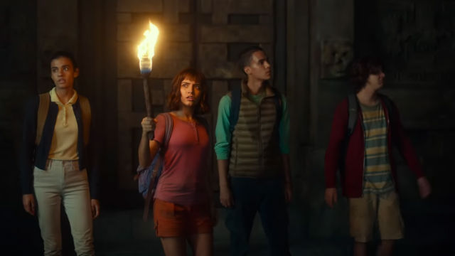 ADVENTURE. Dora (Isabela Moner) and her friends find themselves in an adventure in 'Dora and the Lost City of Gold.' Screenshot from YouTube/Paramount Pictures