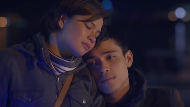 HANGGANG KAILAN. Louise delos Reyes and Xian Lim play lovers in Japan. Screenshot from YouTube.com/VIVAEntertainment001