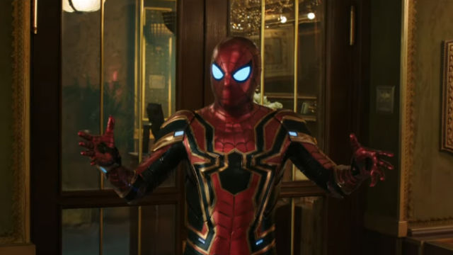 SPIDEY IS BACK. Spider-Man returns to the screen in 'Spider-Man: Far from Home.' Screenshot from YouTube/Sony Pictures Entertainment