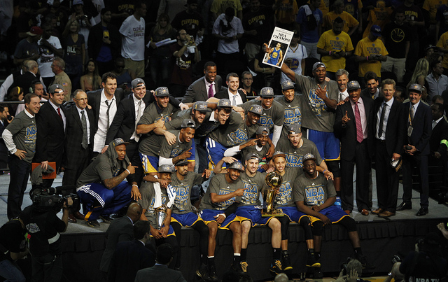 IN PHOTOS: Warriors win NBA championship, end 40-year title drought