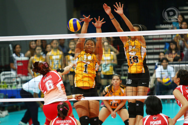 IN PHOTOS: Lady Eagles, Tigresses open UAAP 77 volleyball with wins