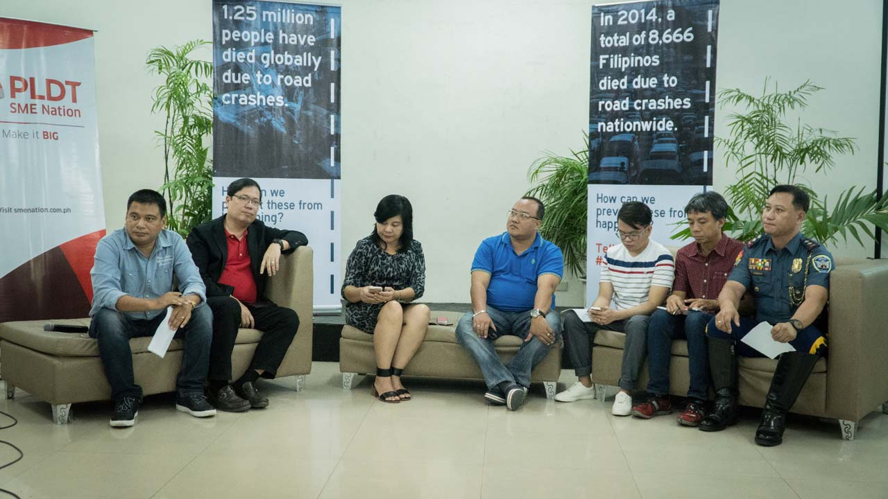 PROJECTS. Local officials shares projects in Iloilo City aimed at ensuring road safety. Photo by Vee Salazar/Rappler