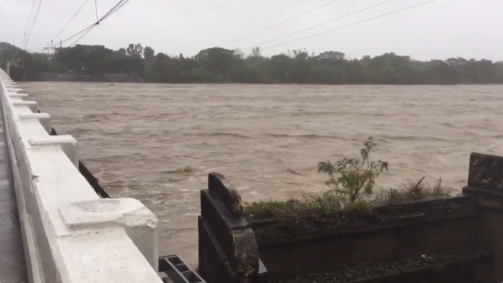 LAWIN'S ONSLAUGHT. A look at the Bauang River in La Union. Photo by Patty Pasion/Rappler