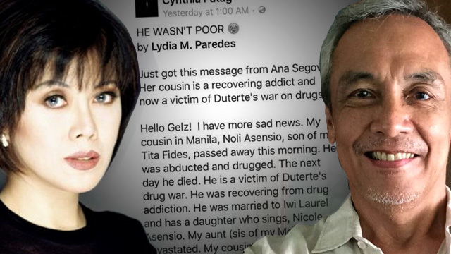 Cynthia Patag, Jim Paredes Accused Of Politicizing
