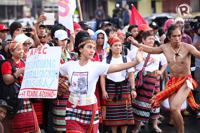 SOLID NORTH. Indigenous people from the northern part of Luzon stage a protest against APEC in mendiola. Photo by Ben Nabong / Rappler