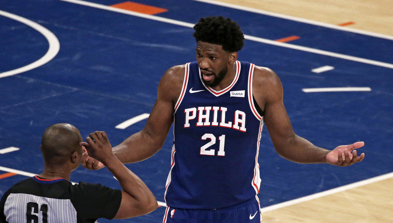 NBA fines Embiid $25,000 for gesture, profanity