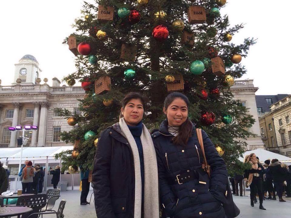 REUNITED. Mother and daughter spend  Christmas together in London