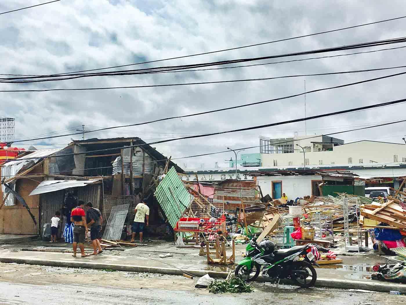 DEVASTATED. Residential areas in Naga City were shattered by Typhoon Nina. Photo by Jerome Ruiz Berja/Rappler