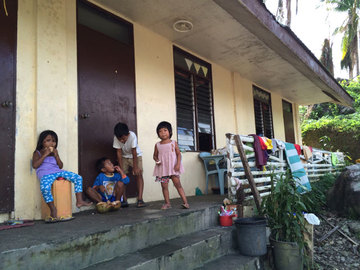 CLASSROOM AND HOME. Children in Guindapunan, Daram say they feel safer in their classrooms than in their shanties during and after typhoons