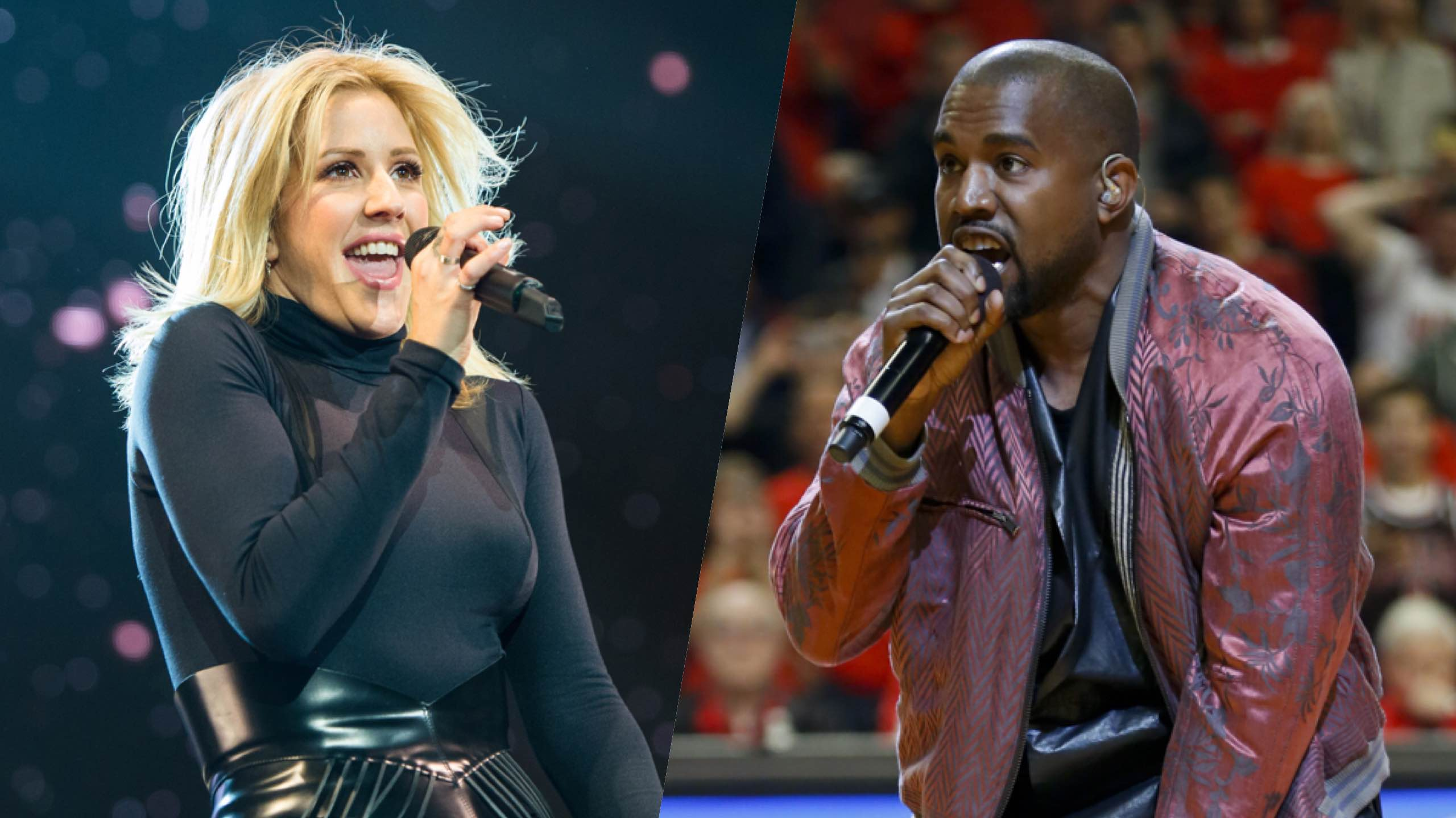 Kanye West Ellie Goulding To Use Fan Lyrics In Anti Poverty