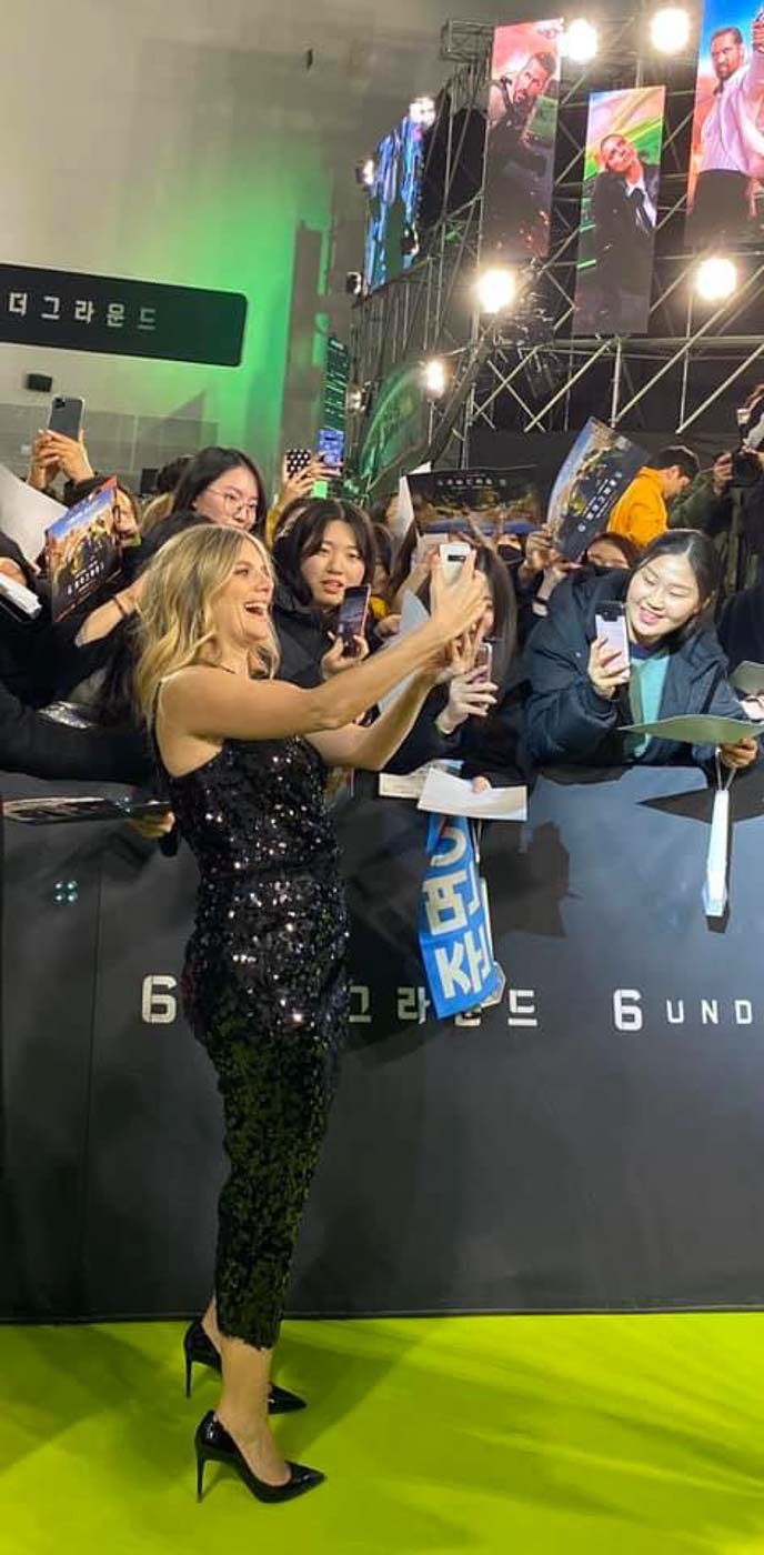 Photo op: French actress Mélanie Laurent takes a selfie with the fans who attended the  Netflix 6 Underground world premier on December 8 at the Dongdaemun Design Plaza in Seoul, South Korea Photo by Nikko Dizon/Rappler