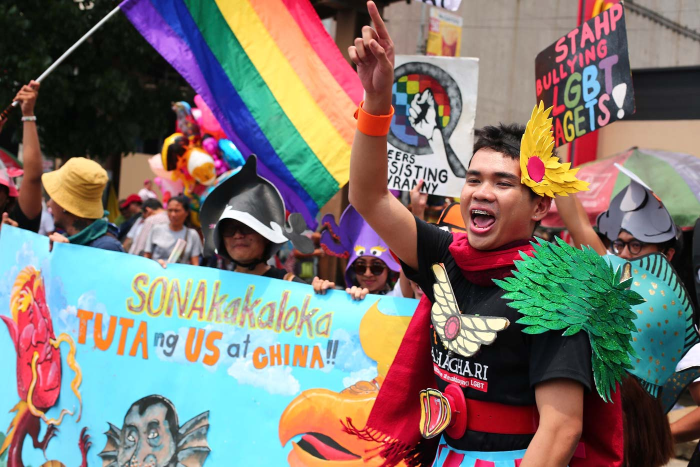 SONAKAKALOKA. Bahaghari is one of the groups that joined the United People's SONA on July 22, 2019. Photo by Jire Carreon/Rappler