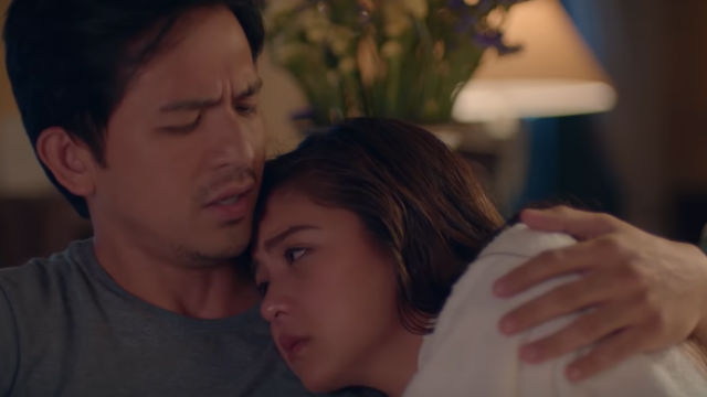ONE GREAT LOVE. Zyra (Kim Chiu) finds herself in between two men, one of them is her best friend Ian (Dennis Trillo). All screenshots from YouTube/Regal Entertainment Inc
