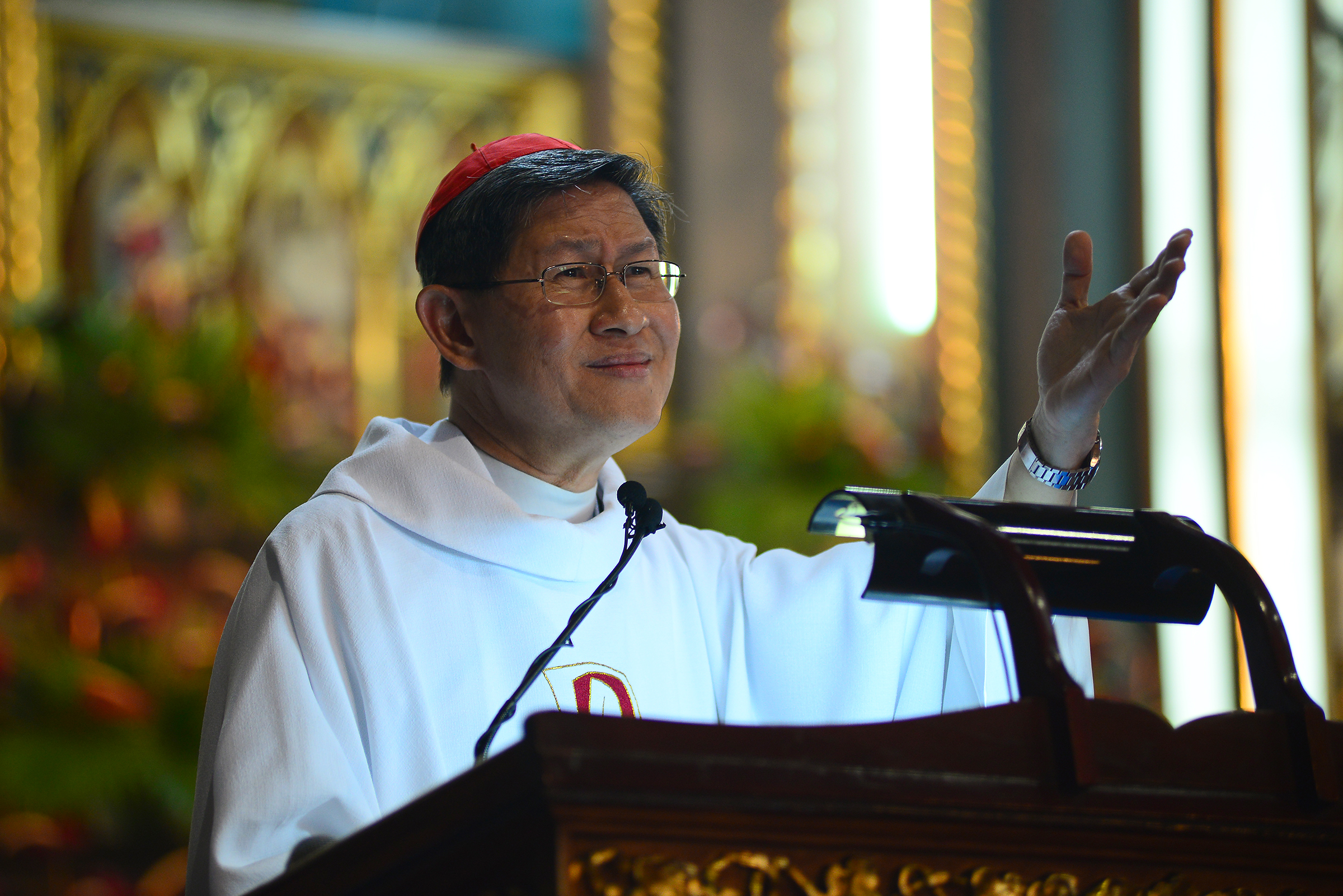 NOT HOPELESS. Manila Archbishop Luis Tan Cardinal Tagle tells former drug dependents that no one can claim they are a hopeless case. Photo by Maria Tan/Rappler
