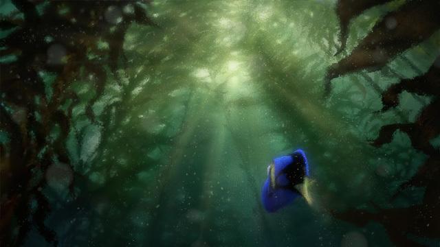 PULANG. Dory kembali ke layar lebar dalam film produksi Disney Pixar 'Finding Dory.' Ini salah satu konsep karya seninya. Foto dari Disney Pixar