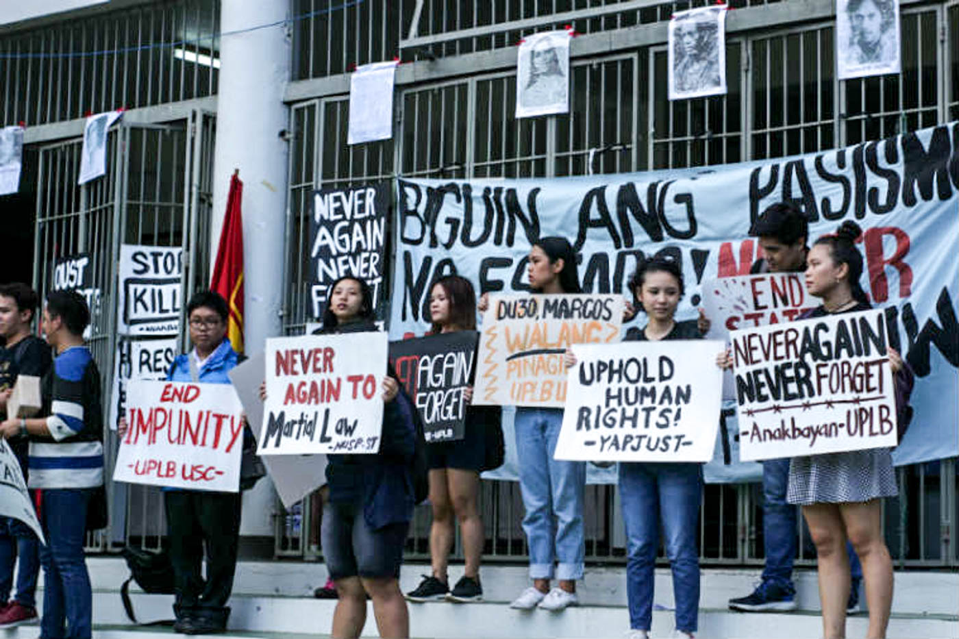 CALABARZON. UPLB students stage a protest at the Carabao Park at the University of the Philippines - Los Baños campus. Photo by Neren Bartolay/Rappler