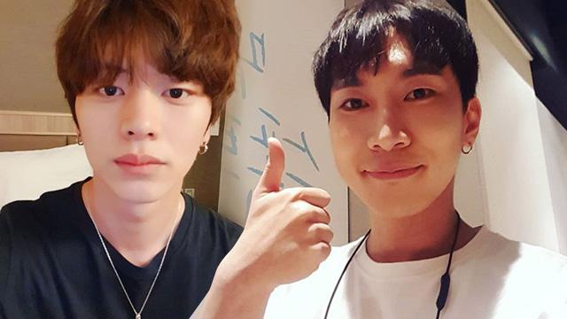 REVOKED DIPLOMAS. Two members of BTOB, Seo Eun-kwang and Yook Sung-jae are among those whose diplomas were revoked from Dongshin University. Screenshots from Instagram/@yook_can_do_it/btob_silver_light